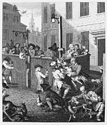 Streetlight Photos - Hogarth: Cruelty, 1751 by Granger