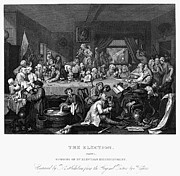 Hogarth Prints - Hogarth: Election Print by Granger