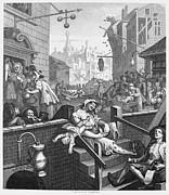 Satire Framed Prints - Hogarth: Gin Lane Framed Print by Granger