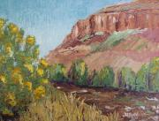Watson Lake Paintings - Hogback in early Fall at Watson Lake by Margaret Bobb