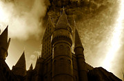 Spooky Digital Art - Hogwarts Castle by David Lee Thompson