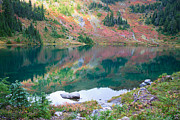 Hoh Photos - Hoh Lake in fall by Olivier Steiner