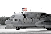 C130 Prints - Hoisting the Colors Print by Greg Fortier