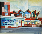 Asbury Park Paintings - HoJos Abstracted by Patricia Arroyo