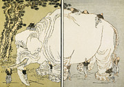Parable Prints - Hokusai: Elephant Print by Granger