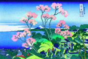 Fathers Paintings - Hokusai Goten Yama Hill Shinagawa on the Tokaido by Katsushika Hokusai