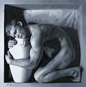 Male Paintings - Hold by E Gibbons