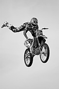 Supercross Framed Prints - Hold On Framed Print by Simon Brooke