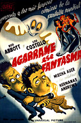 Spanish Poster Art Posters - Hold That Ghost, Aka En Agarrame Ese Poster by Everett