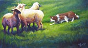 Sheepdog Paintings - Holdem Sadie by Pat Burns