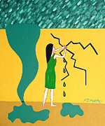 Storm Prints Painting Posters - Holding Back The Flood Poster by Patrick J Murphy