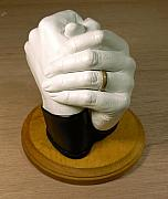 Hands Sculptures - Holding Hands by Linda Rutledge