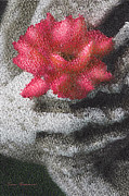 Inspirational. Pointillism Prints - Holding On To Life Print by Zeana Romanovna