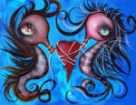 Sea Animals Art - Holding our Love by  Abril Andrade Griffith
