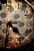 Clock Hands Digital Art Posters - Holes In Time Poster by Pam Walker
