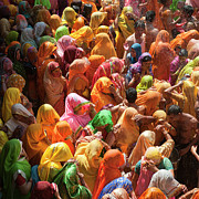 High Angle View Art - Holi India by Tayseer AL-Hamad