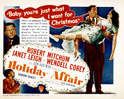 Posth Photos - Holiday Affair, Robert Mitchum, Janet by Everett