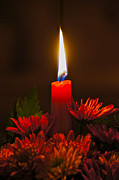 Winter Promise Prints - Holiday Candle Print by Sean Griffin