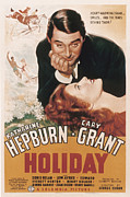 Films By George Cukor Prints - Holiday, Cary Grant, Katharine Hepburn Print by Everett