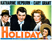 Atcmposterart Posters - Holiday, From Left Cary Grant Poster by Everett