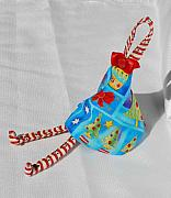 Bow Tapestries - Textiles - Holiday Girl Christmas Bow by Tamara Konovalova