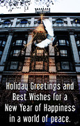 Holiday Greetings Posters - Holiday Greetings and Best Wishes for a New Year of Happiness in a world of peace Poster by Nishanth Gopinathan