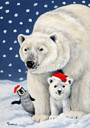Christmas Card Originals - Holiday Greetings by Richard De Wolfe