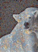Hearts On Sidewalks Digital Art Posters - Holiday Hearts Polar Bear Number Two Poster by Boy Sees Hearts