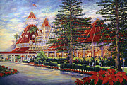 Hotel Paintings - Holiday Hotel by Coronado Art Gallery