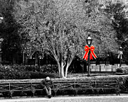 Jackson Prints - Holiday in Jackson Square 2 Print by Perry Webster