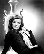Colbw Photo Framed Prints - Holiday, Katharine Hepburn, 1938 Framed Print by Everett