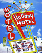 Signage Paintings - Holiday Motel by Anthony Ross