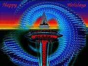 Christmas Card Greeting Cards - Holiday Needle 2 by Tim Allen