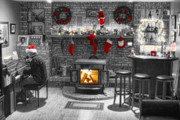 Selective Coloring Art Prints - Holiday Spirit Magic Print by James Bo Insogna