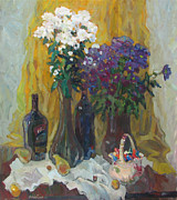 Drapery Posters - Holiday still life Poster by Juliya Zhukova