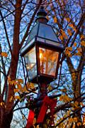 Holiday Streetlamp Print by Joann Vitali
