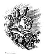 Holiday Train, Conceptual Artwork Print by Bill Sanderson