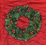 Pine Needles Mixed Media - Holiday Wreath by Carrie Auwaerter