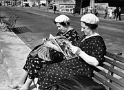 Two By Two Framed Prints - Holidaymakers Framed Print by Kurt Hutton