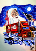 Coca Cola Painting Framed Prints - Holidays are coming... Framed Print by Pauline Murphy