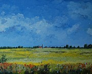 Oil On Canvas Framed Prints - Holland Countryside Framed Print by Alla Dickson