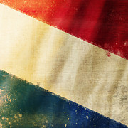 Weathered Photo Posters - Holland flag Poster by Setsiri Silapasuwanchai