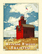 Holland Harbor Lighthouse Print by Antoinette Houtman