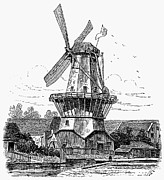 1878 Photos - Holland: Windmill, 1878 by Granger