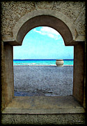 \\\\joan Minchak\\\\ Framed Prints - Holliwood Beach Arch Framed Print by Joan  Minchak