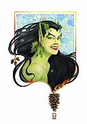 Fantasy Artwork Posters - Holly Elf Poster by Melissa A Benson