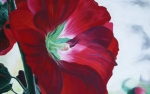 Close Up Painting Metal Prints - Hollyhock Metal Print by Jane Autry