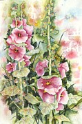 Kay Johnson - Hollyhocks