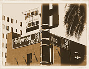 Chemicals Digital Art Prints - Hollywood Bl and Vine St Print by RJ Aguilar