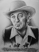 Horses Drawings - Hollywood Greats -robert Mitchum by Andrew Read